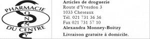 Pharmacie du Centre Cheseaux